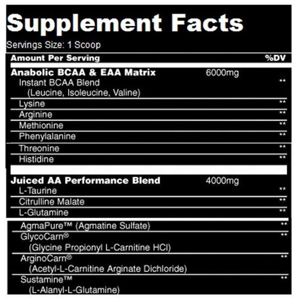 Universal Nutrition Animal Juiced Aminos | Muscle Players