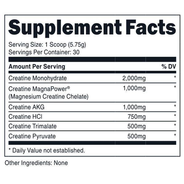 Bucked Up Six Point Creatine | Muscle Players